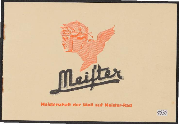 Meister Fahrradwerke Fabrikation Broschüre 1930