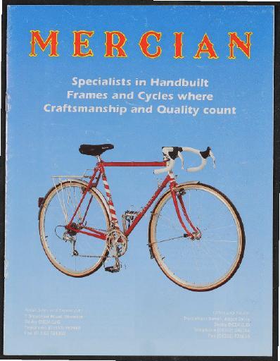 Mercian, Derby (GB) Handbuild Framework Prospekt 1998