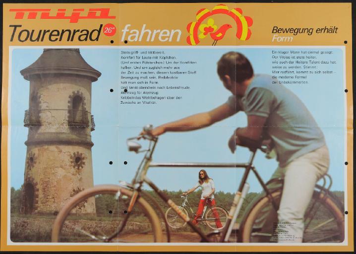 Mifa 26 Tourenrad Plakat um 1970