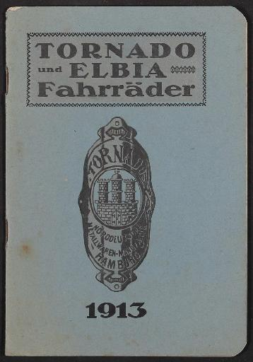Tornado und Elbia Fahrräder, Katalog 1913