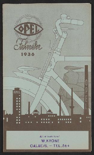Opel, Faltblatt 1936