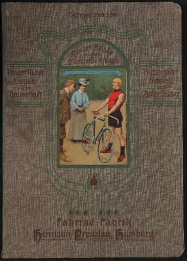 Panzer-Räder, Fahrrad-Fabrik Hermann Prenzlau, Schreibmappe, 1906