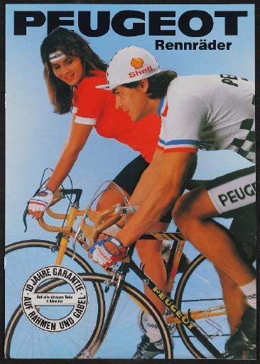Peugeot Rennräder Prospekt 1986
