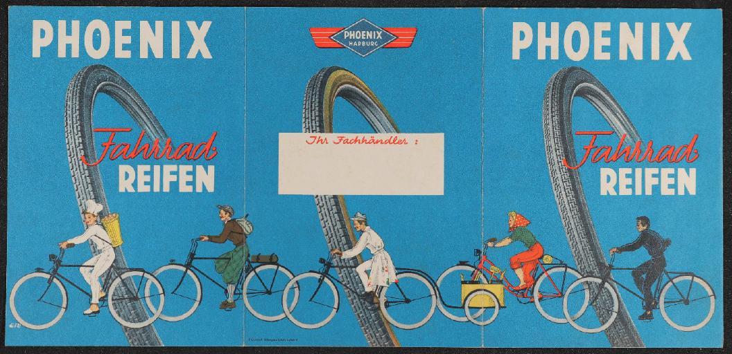 Phoenix Fahrrad Reifen Faltblatt 1952