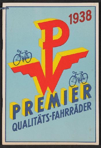 Premier Qualitäts-Fahrräder Katalog 1938
