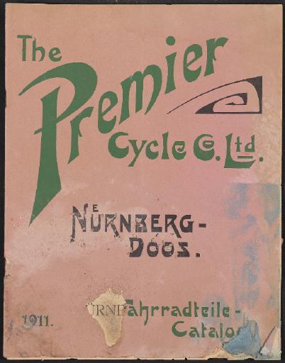 The Premier Cycle Co. Ltd. Nürnberg-Doos Fahrradteile-Catalog 1911