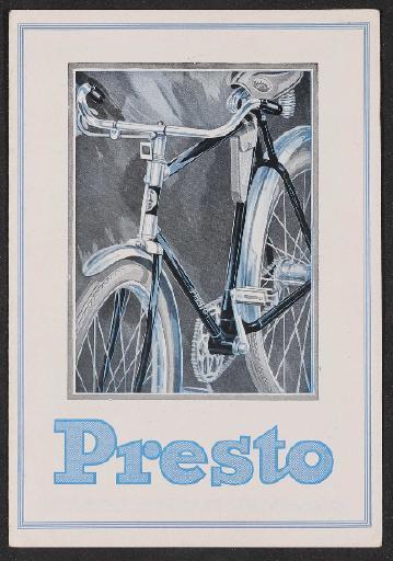 Presto Fahrräder Faltblatt  1930er jahre