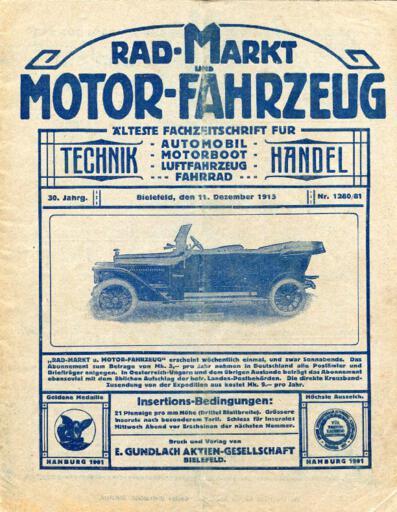 Rad-Markt und Motor-Fahrzeug 11 Dezember 1915