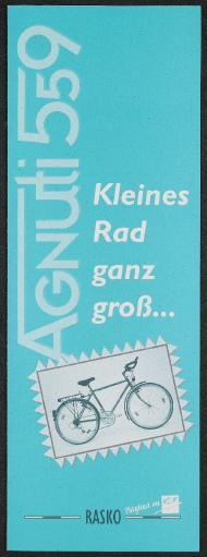 Rasko Agnuti 559 Kleines Rad ganz groß Faltblatt 1997