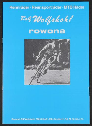 Rowona Rennräder Rennsporträder MTB Räder 1990er Jahre