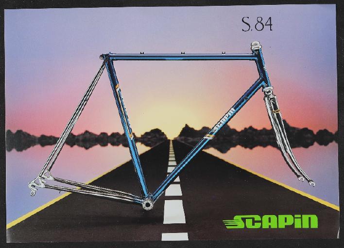 Scapin, Cicli Scapin SNC (I) Rennradrahmen Werbeblatt 1990er Jahre