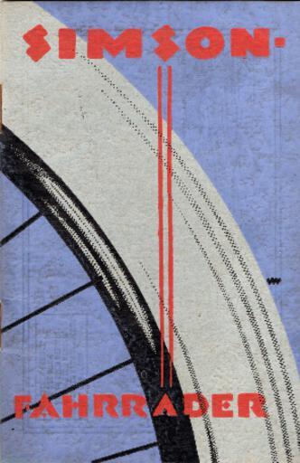 Simson Katalog 1920er Jahre