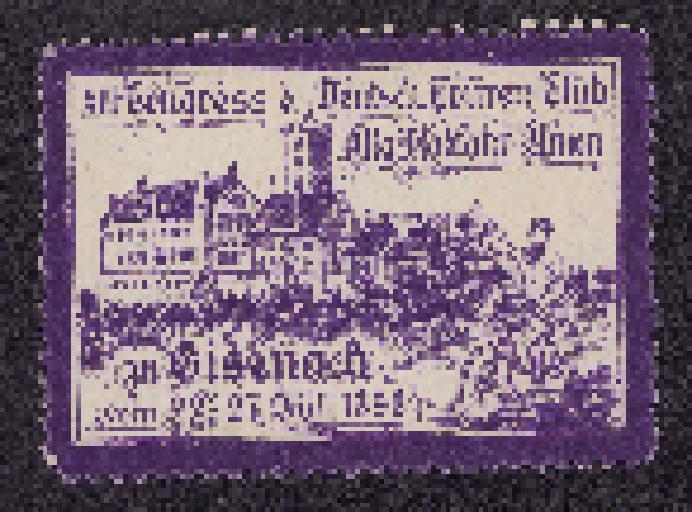Reklamemarke XIII Congress Allgemeiner Radfahrer Union 1898