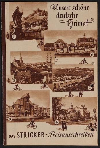 E.u.P. Stricker Fahrradfabrik Katalog Preisausschreiben 1950
