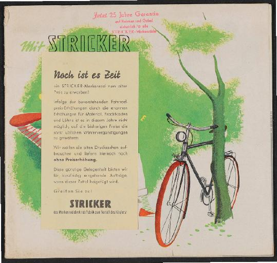 Stricker Katalog 1955