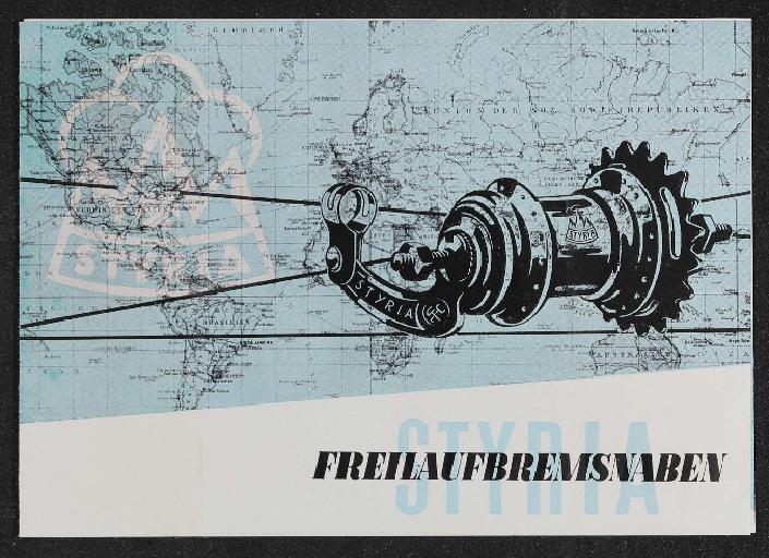 Styria Freilaufnaben Steyr-Daimler-Puch AG Werk Freilassing Faltblatt 1954