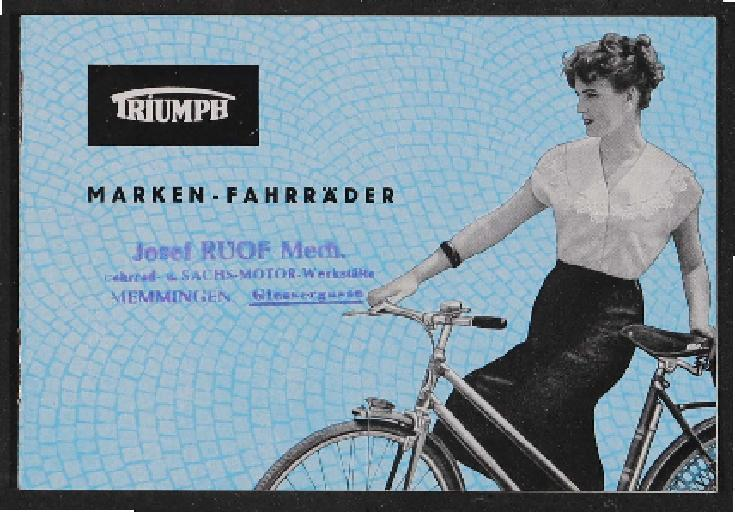 Triumph Fahrräder Katalog 1950er Jahre
