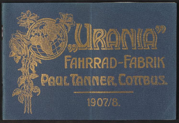 Urania Fahrrad-Fabrik Katalog 1907