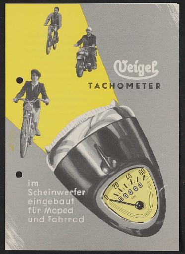 Veigel, Tachometer Prospekt 1960er Jahre