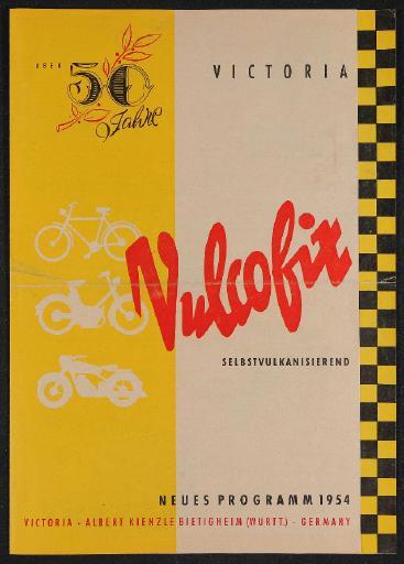 Victoria Vulcofix Selbstvulkanisierend Faltblatt 1954