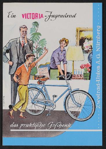 Victoria  Jugendrad Werbeblatt 1960er Jahre