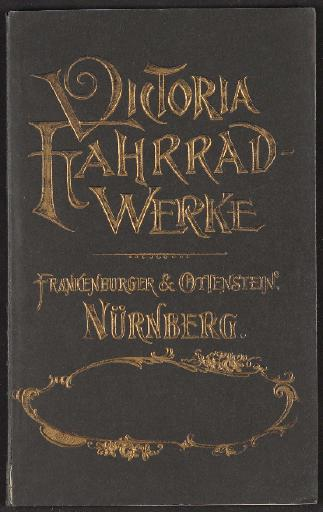 Victoria Fahrrad-Werke, Katalog 1893