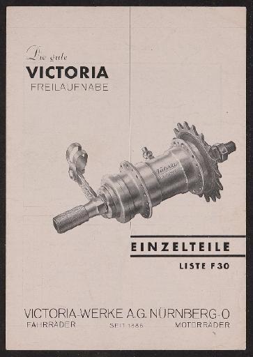 Victoria Freilaufnabe Prospekt 1936