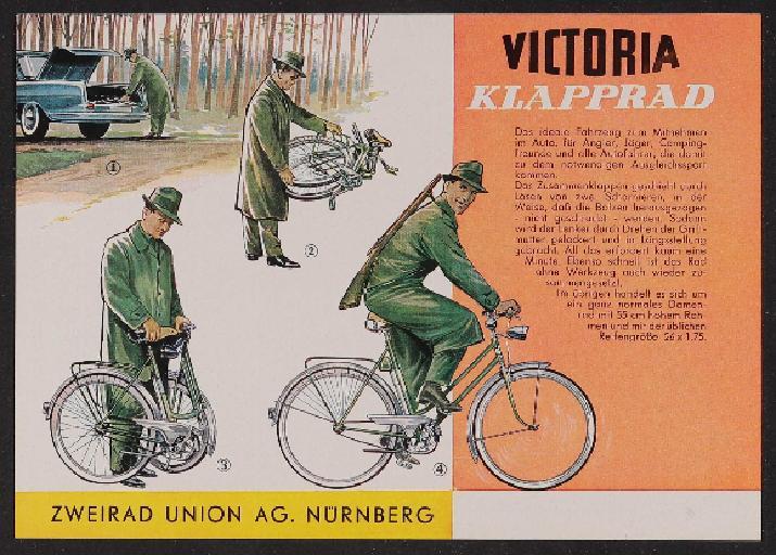 Victoria Klapprad Werbeblatt 1960er Jahre