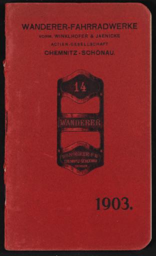 Wanderer Fahrräder Katalog 1903
