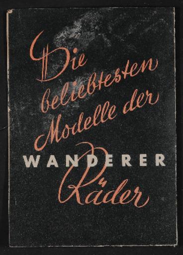 Wanderer Faltblatt 1938