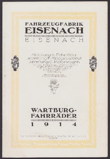 Wartburg-Räder Katalog 1914