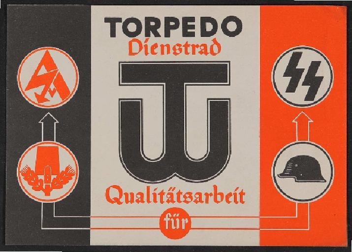 Torpedo Dienstrad Werbeblatt 1930er Jahre