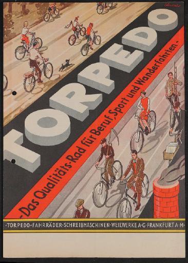 Torpedo Fahrräder Prospekt 1920er Jahre