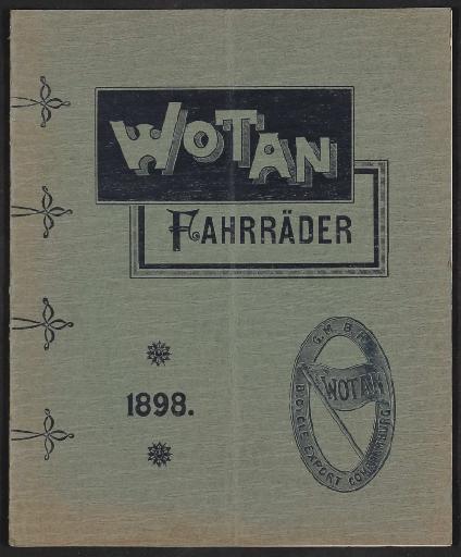 Wotan Fahrräder, Katalog 1898