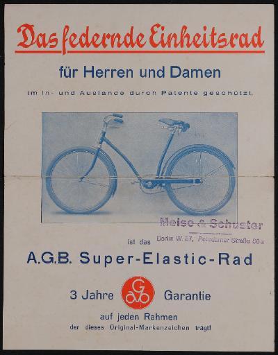 A.G.B. Super-Elastic Rad Prospekt ca. 1934