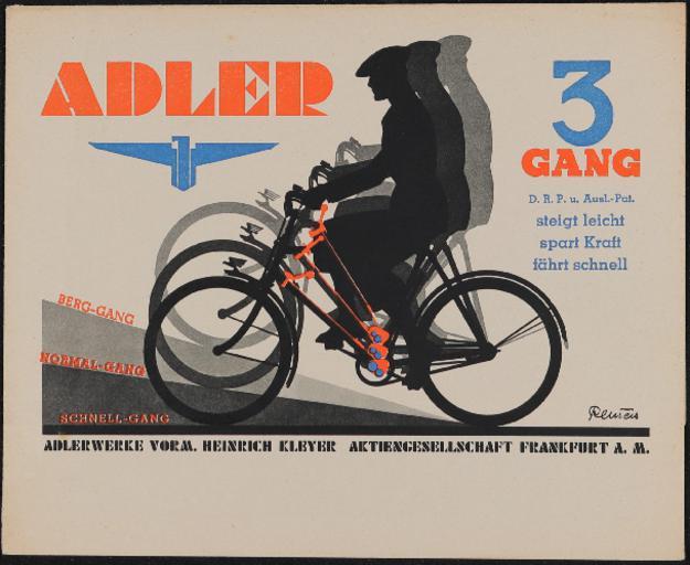 Adler 3 Gang Faltblatt 1938