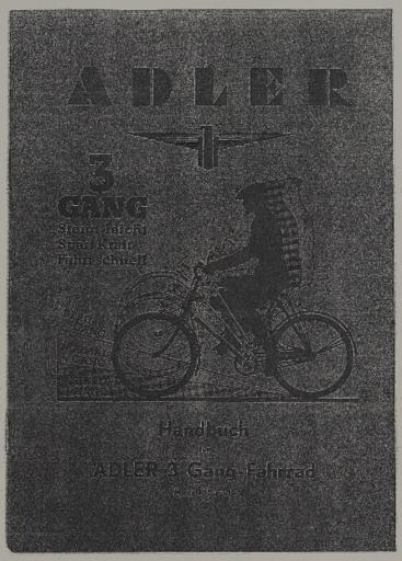 Adler 3 Gang Handbuch 1939