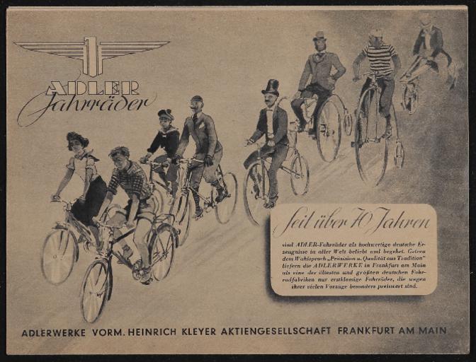 Adler Faltblatt 1951