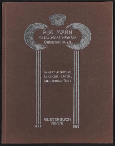 Aug. Mann AMO Katalog 1920er Jahre