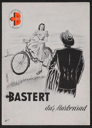 Bastert Markenrad Faltblatt mit Preisliste 1950