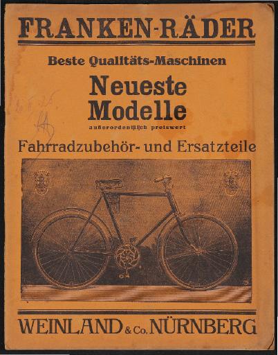 Franken-Räder Katalog 1925